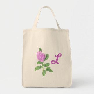 Rosa målning för lavendel, Monogramtote bags Mat Tygkasse