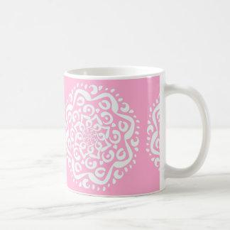 Rosa Mandala Kaffemugg