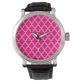 Rosa marockanska Moods Quatrefoil Armbandsur