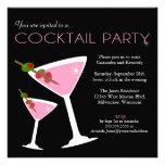 Rosa Martini cocktailpartyinbjudan Inbjudningskort