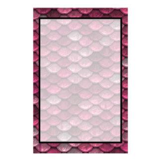 Rosa metallisk fjällstruktur brevpapper