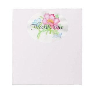 Rosa mini- blom- bukett TY för rosa vattenfärgvild Anteckningsblock