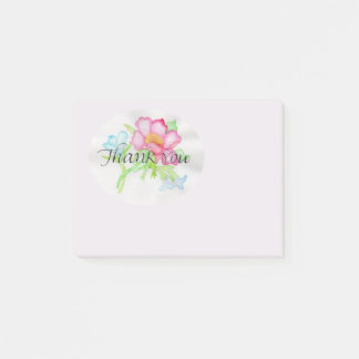 Rosa mini- blom- bukett TY för rosa vattenfärgvild Post-it Lappar