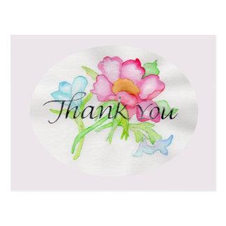 Rosa mini- blom- bukett TY för rosa vattenfärgvild Vykort