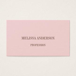 Rosa minimalist yrkesmässig visitkort