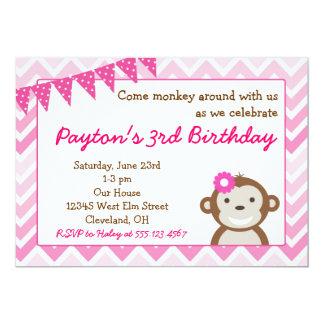 Rosa modapafödelsedagsfest inbjudan