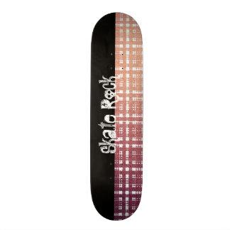 Rosa modern pläd med skenLook Old School Skateboard Bräda 21,6 Cm