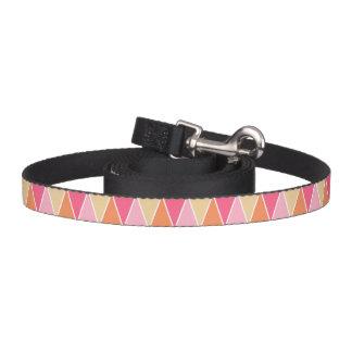 Rosa modernt triangelmönster för persika koppel för hundar