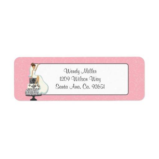 Rosa möhippareturetiketter returadress etikett