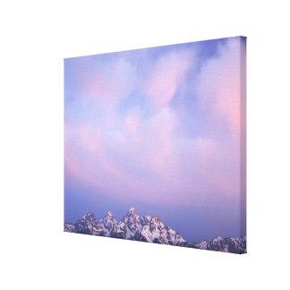 Rosa moln över Tetonen spänner Canvastryck