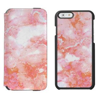 Rosa molnig marmorsten för persika