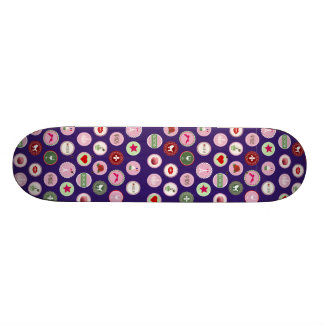 Rosa mönster för Paris kärlek flickaktigt Skateboard Bräda 20,5 Cm