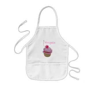 Rosa muffin och hjärtor barnförkläde