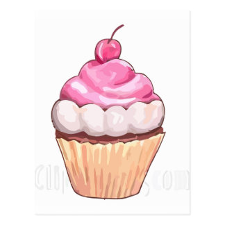 Rosa muffin vykort