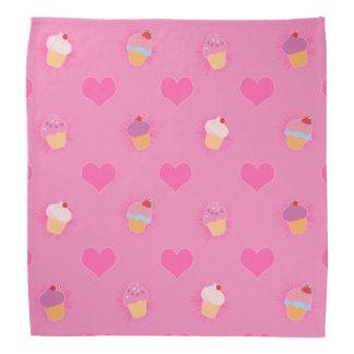 Rosa muffinmönster bandana
