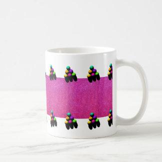 Rosa mugg 4 för kaffe för gnistraBilliardboll