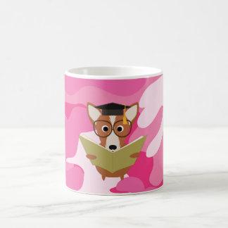 Rosa mugg för Camo studiehund Kaffemugg