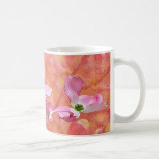 Rosa mugg för Dogwoodblommardesign