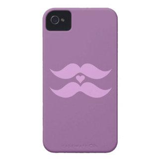 Rosa mustaschanpassningsbarblackberry fodral Case-Mate iPhone 4 fodraler