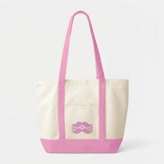 Rosa mustascher hänger lös - välj stil, färg tygkasse