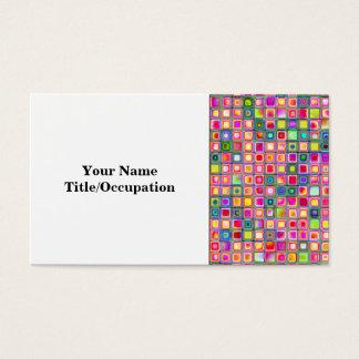 Rosa nejlika belägger med tegel texturerade mosaik visitkort