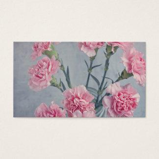 Rosa nejlikor visitkort