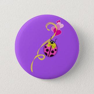 Rosa nyckelpigagultband standard knapp rund 5.7 cm