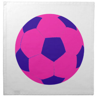 Rosa- och blåttfotbollboll tygservett