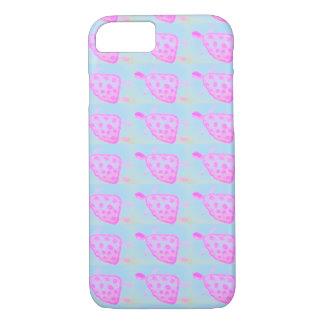 Rosa- och blåttsköldpaddaApple iphone case