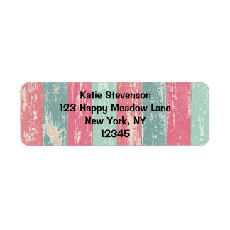 Rosa- och gröntgrungerandar returadress etikett