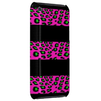 Rosa- och gröntLeopardrandar Barely There iPod Covers