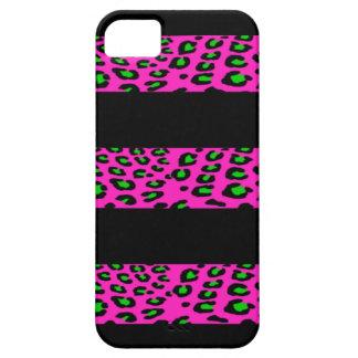 Rosa- och gröntLeopardrandar iPhone 5 Case-Mate Skal