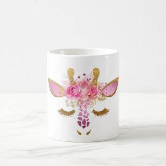 Rosa och guld- giraffmugg kaffemugg