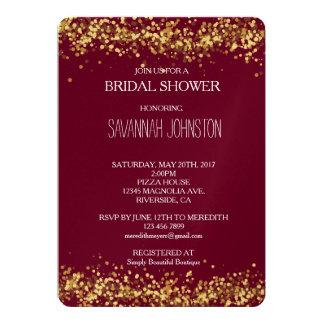 Rosa och guld- konfettimöhippa 12,7 x 17,8 cm inbjudningskort