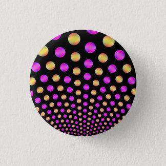 Rosa- och gultbollar på svart Pinback knäppas Mini Knapp Rund 3.2 Cm