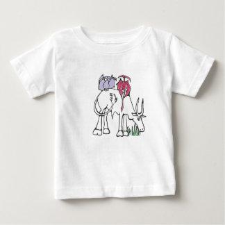 Rosa- och lavendelPterodactylsT-tröja Tee