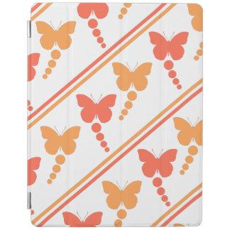 Rosa och orange fjärilar, pricker, randtrycket iPad skydd