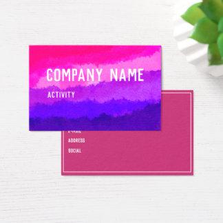 Rosa och purpurfärgad akvarell Businesscard Visitkort