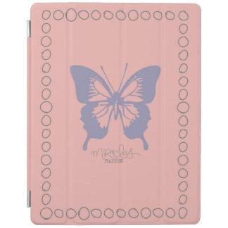 Rosa och purpurfärgad fjärilsipad cover iPad skydd