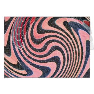 rosa och svart abstrakt hälsningskort