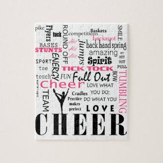 rosa och svart cheerleading för jubel pussel