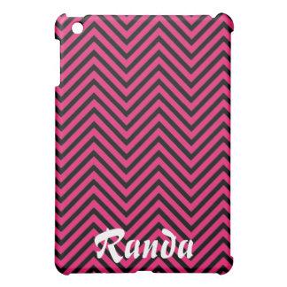Rosa och svart fodral för sparreiPadkortkort iPad Mini Skal