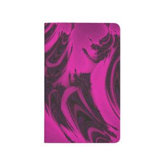 Rosa och svart fractal anteckningsbok