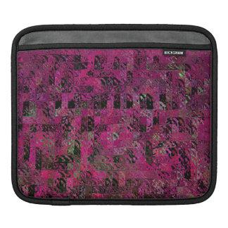 Rosa och svart geometrisk abstrakt ipad sleeve