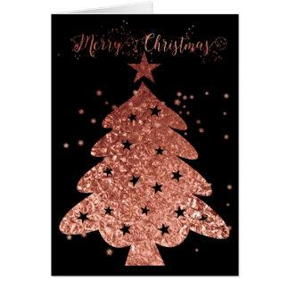 Rosa och svart Glam för god jul Hälsningskort