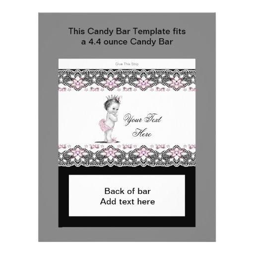 Rosa och svart omslag för baby showergodispub flygblad designs