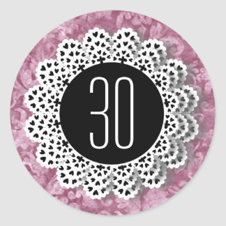 Rosa och svart snöre V009CC för 30års födelsedagkl