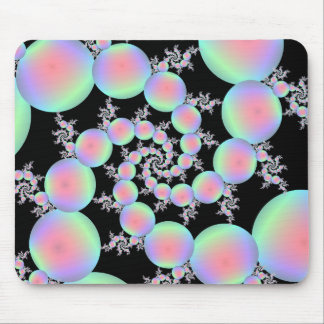Rosa- och turkosballongspiral musmatta