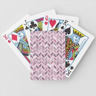 Rosa och violett sparre för blek - spelkort