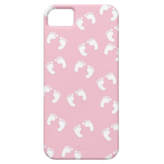Rosa- och vitbabyfot - baby showertryck barely there iPhone 5 fodral